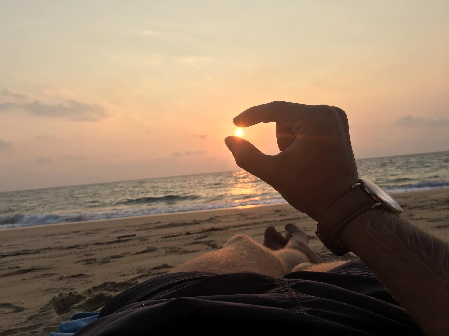Paskutinės dienos nuotrauka: Saulėlydis Tailande